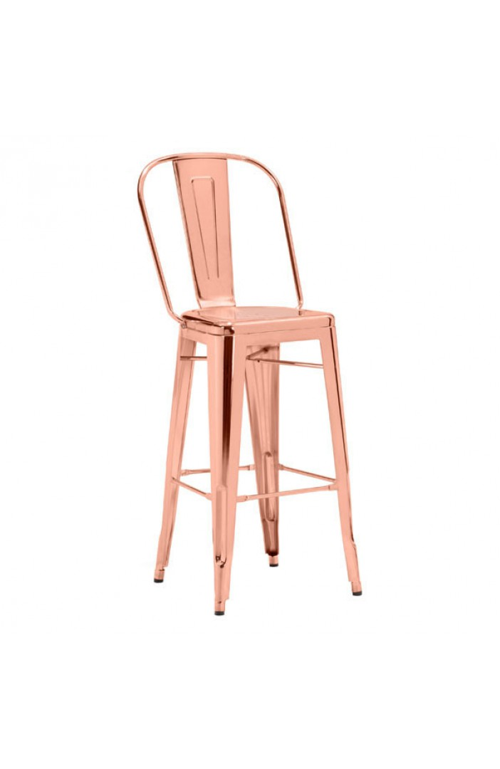Pleasing Elio Bar Chair Rose Gold Unemploymentrelief Wooden Chair Designs For Living Room Unemploymentrelieforg