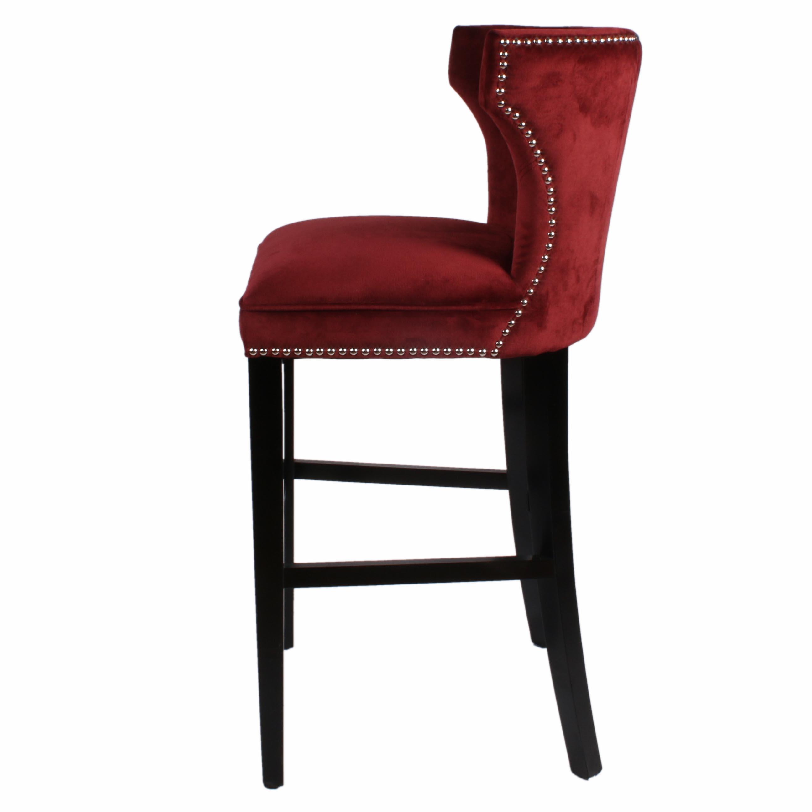 Amazing Dexter Fabric Bar Stool Black Legs Cranberry Uwap Interior Chair Design Uwaporg