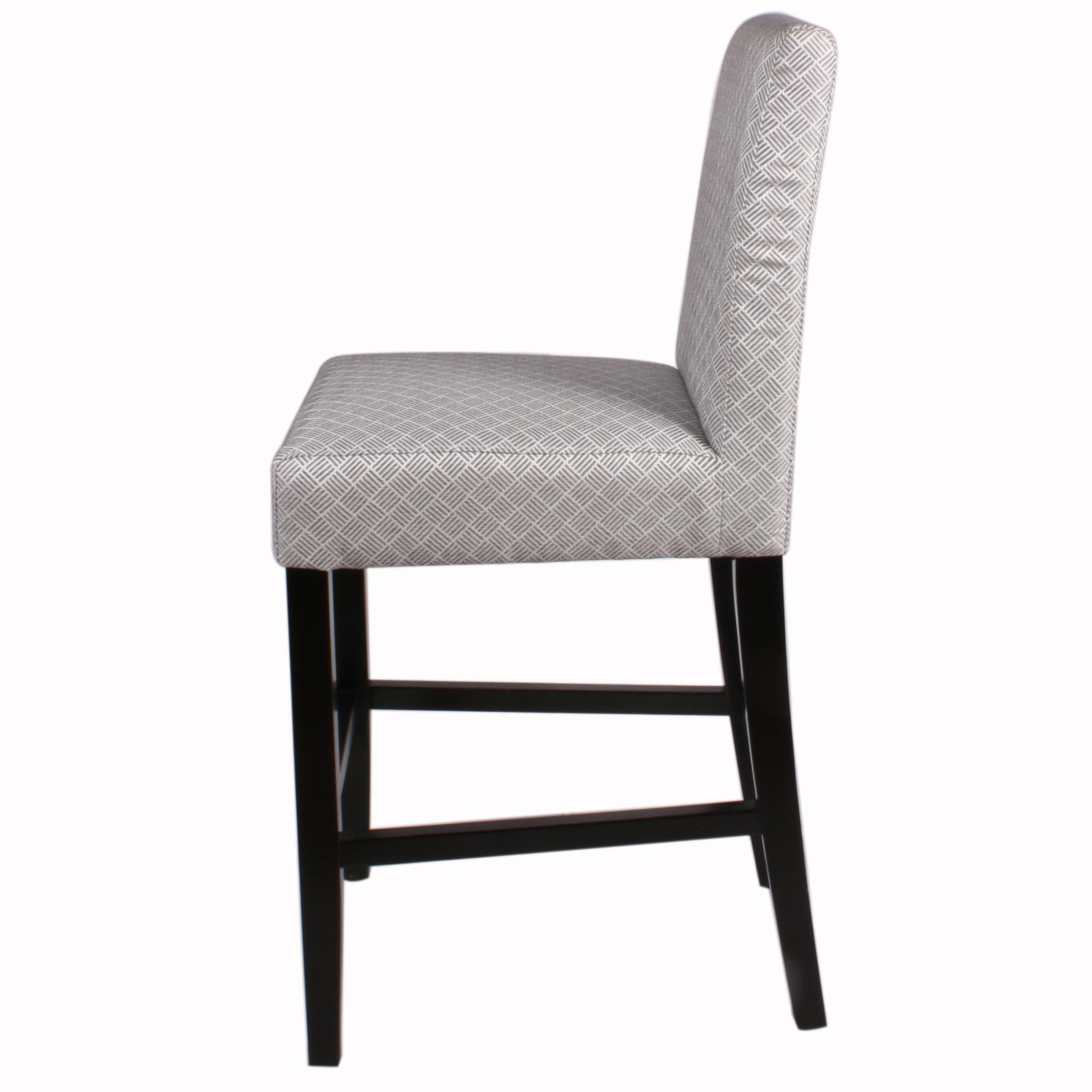 Admirable Hartford Fabric Counter Stool Black Legs Basket Weave Gray Lamtechconsult Wood Chair Design Ideas Lamtechconsultcom