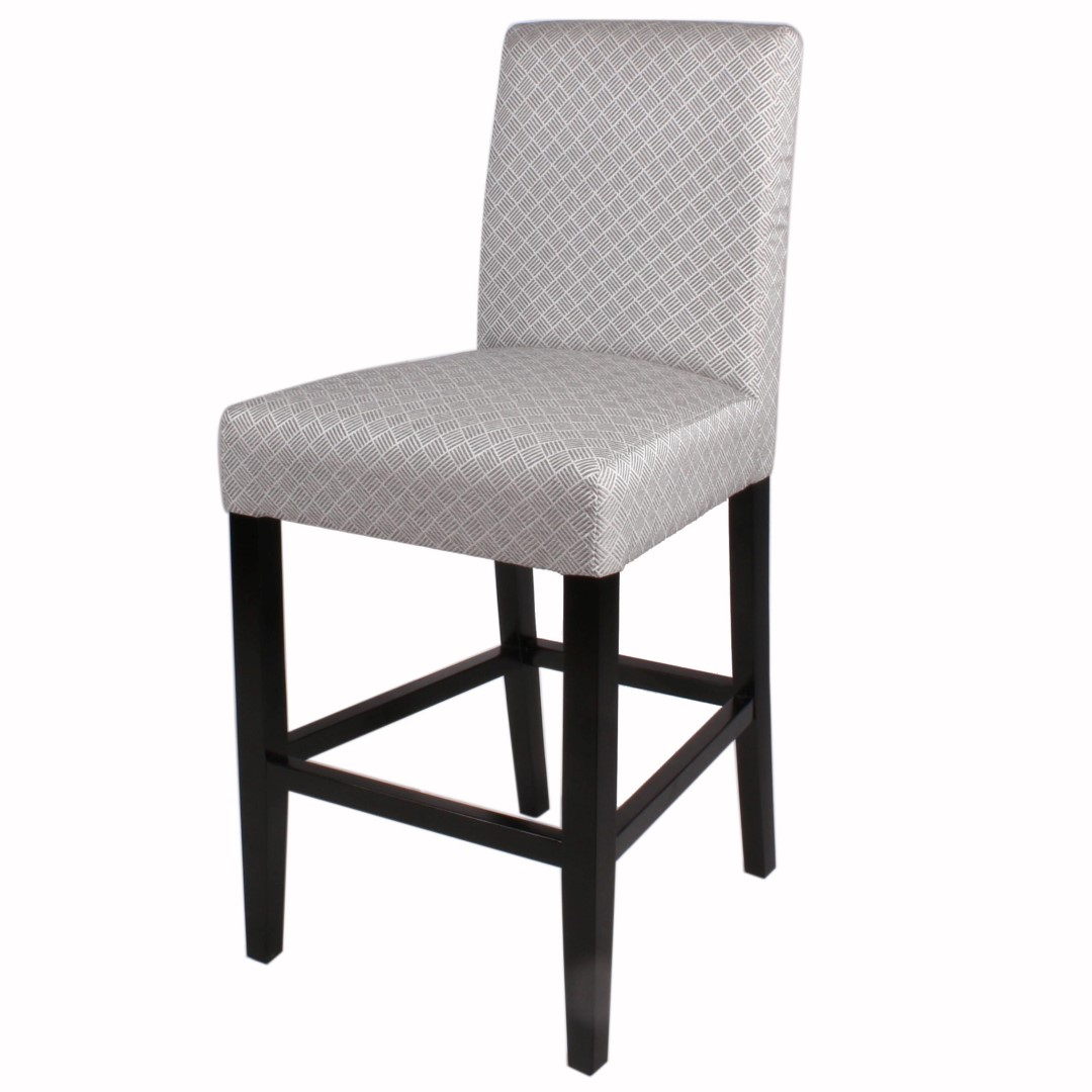Awesome Hartford Fabric Bar Stool Black Legs Basket Weave Gray Cjindustries Chair Design For Home Cjindustriesco