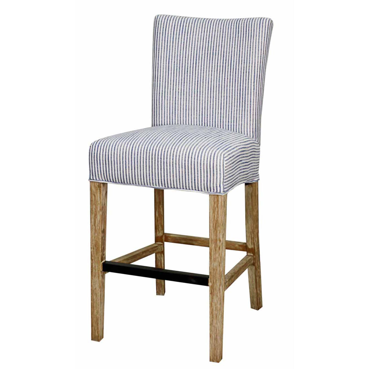 info for 8475a 50345 Milton Fabric Counter Stool NWO Legs, Blue Stripes