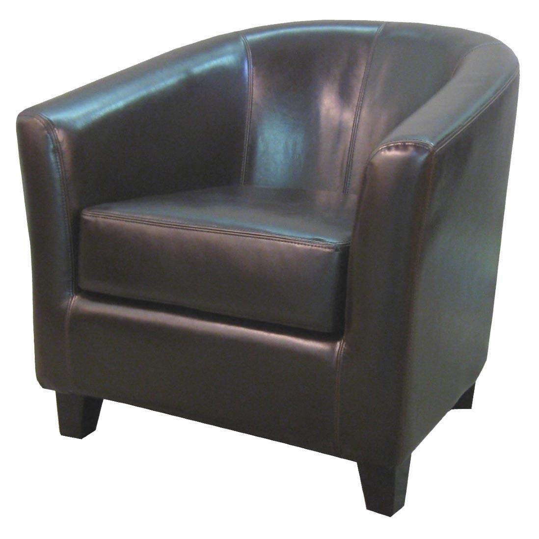 Remarkable Hayden Bonded Leather Tub Chair Brown Creativecarmelina Interior Chair Design Creativecarmelinacom