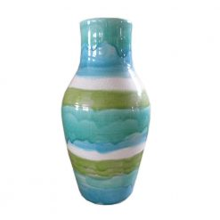 Aqua Bands Vase Tall-M2