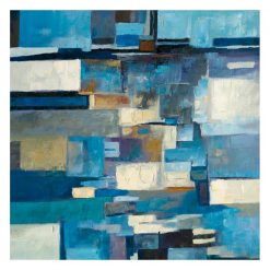 Blue Block Wall Decor