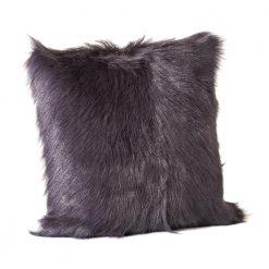 Goat Fur Pillow Grey