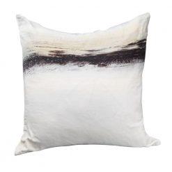 Fog Velvet Cushion W/ Feather Insert