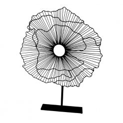 Deco Flower On Stand Black Large