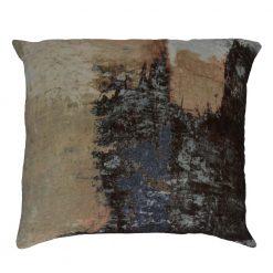 Brushstrokes Velvet Cushion W/Feather Insert