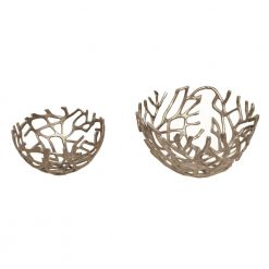 Branch Bowl Silver Set Of Two