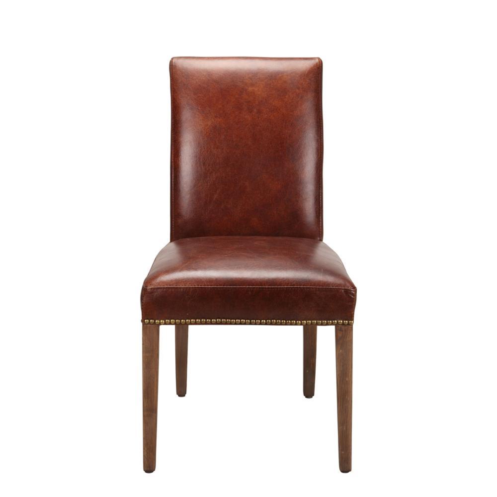 Amazing Rex Leather Parson Chair Brown M2 Creativecarmelina Interior Chair Design Creativecarmelinacom