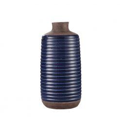 Alexandria Vase Short Blue