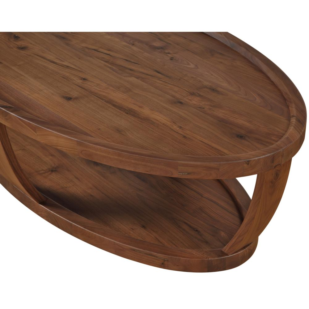 - Dylan Oval Coffee Table Rustic Walnut - Boulevard Urban Living