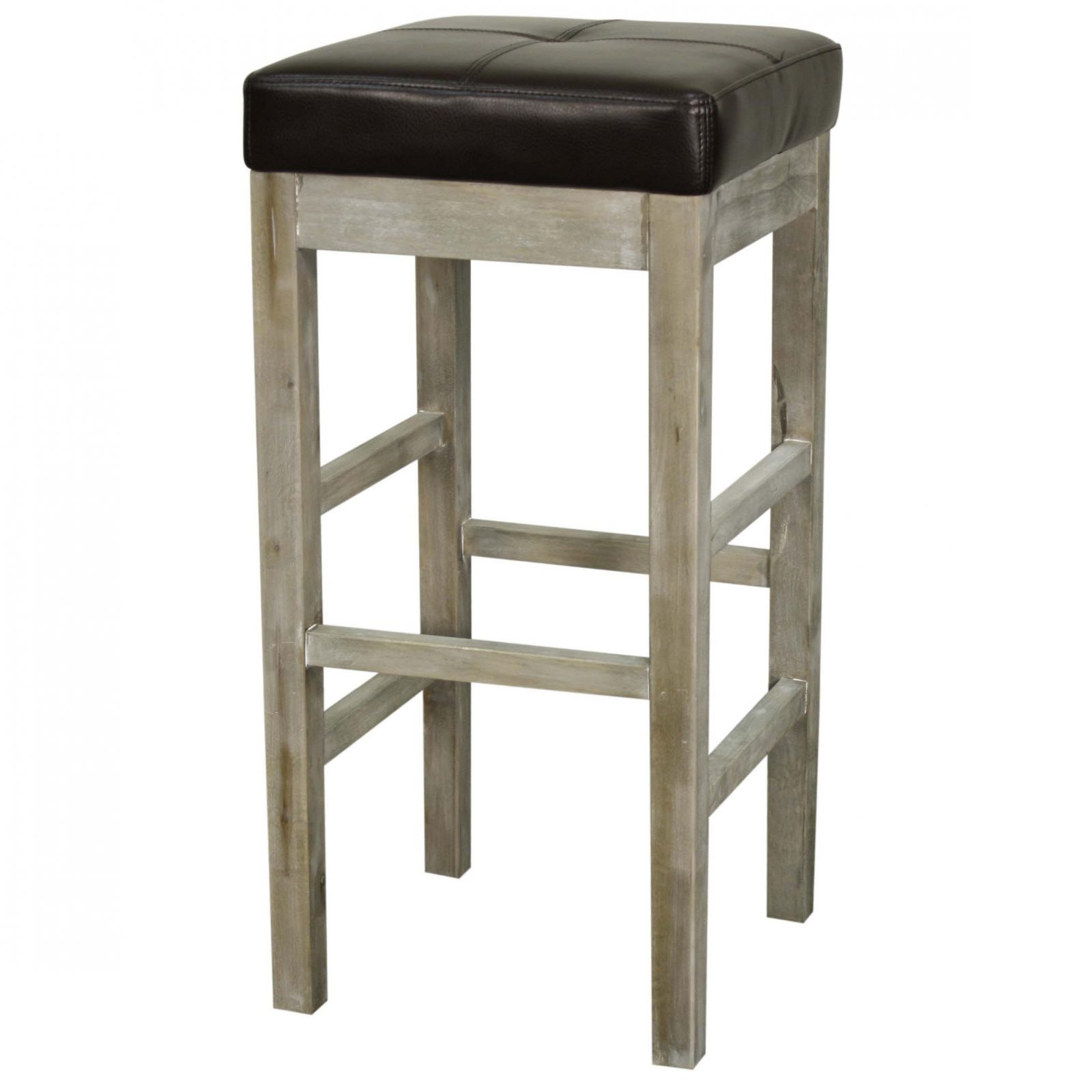 Valencia Bonded Leather Backless Bar Stool Mystique Gray