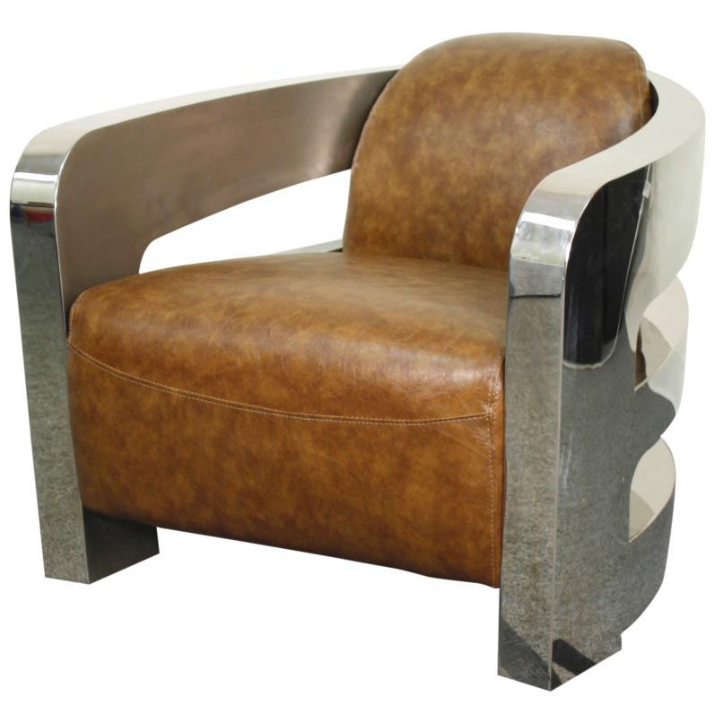 Leather Accent Chairs Metal Legs Caramel.Carson Pu Accent Chair Stainless Steel Frame Distressed Caramel