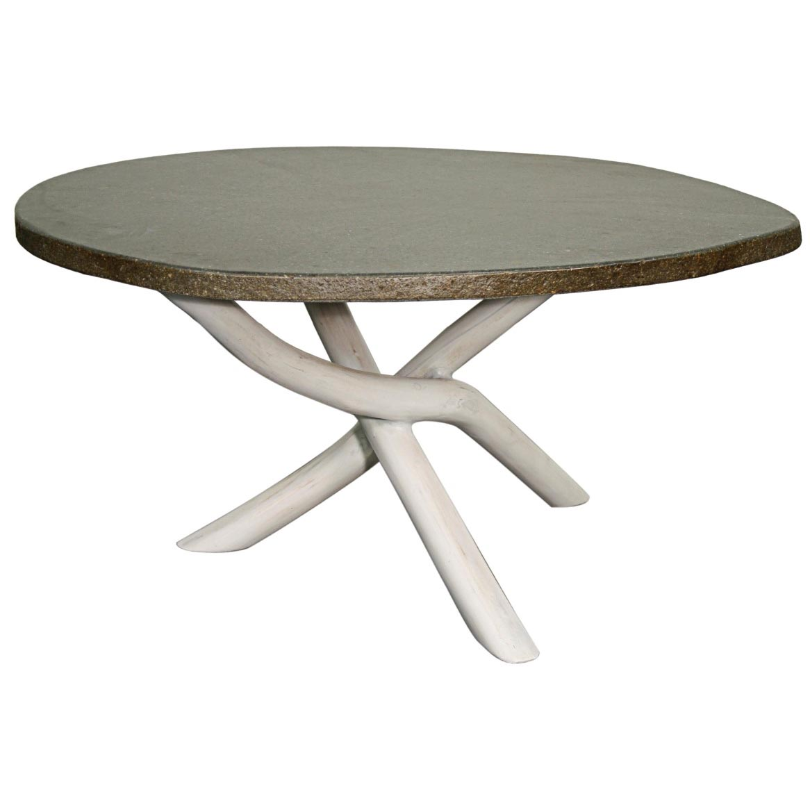 Misty Stone Coffee Table Natural White