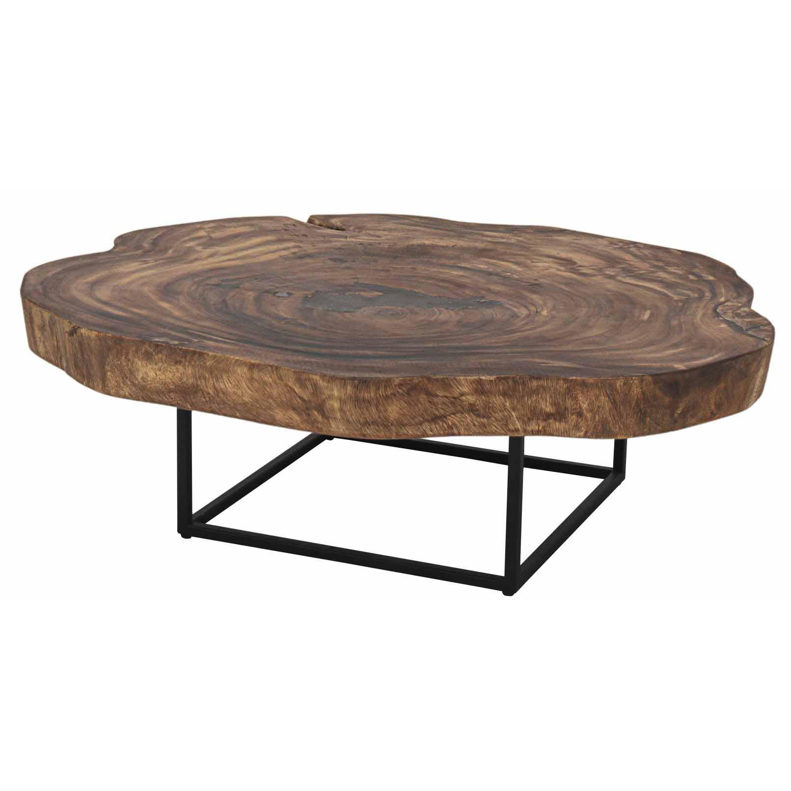 Trembesi Coffee Table Black Iron Legs Natural Boulevard Urban