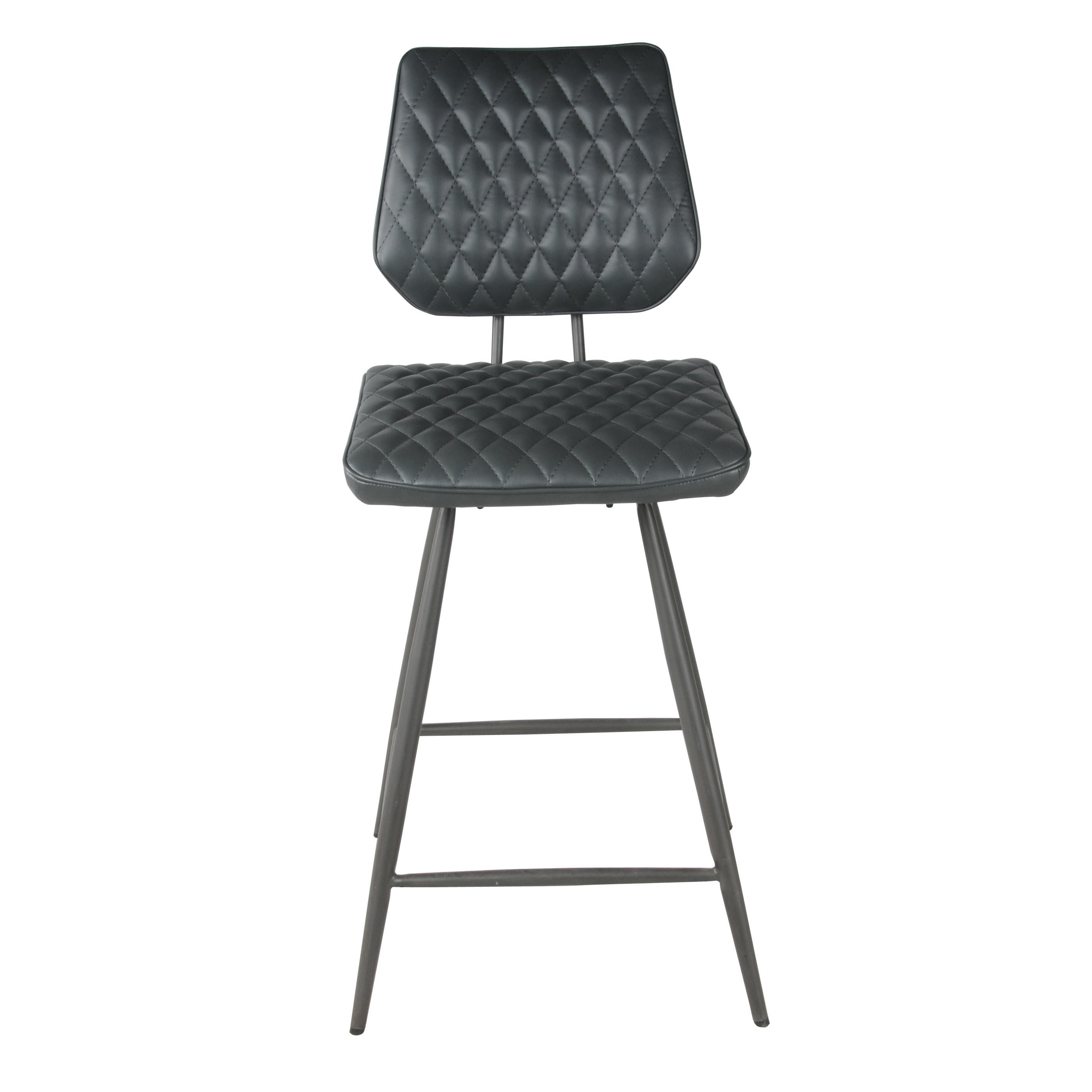 Astonishing Mitchell Kd Pu Swivel Counter Stool Vintage Black Legs Anchor Gray Lamtechconsult Wood Chair Design Ideas Lamtechconsultcom