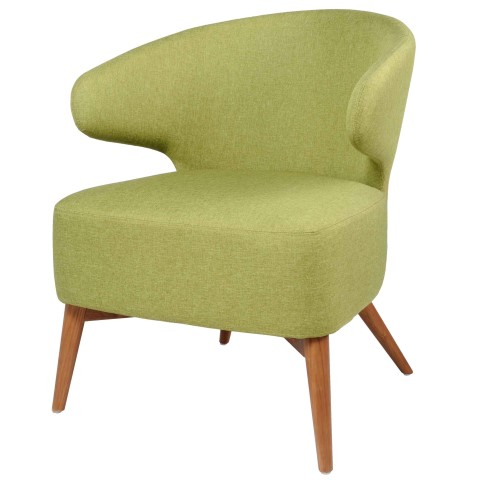 Fabulous Brinsley Fabric Accent Chair Walnut Legs Limerick Ncnpc Chair Design For Home Ncnpcorg
