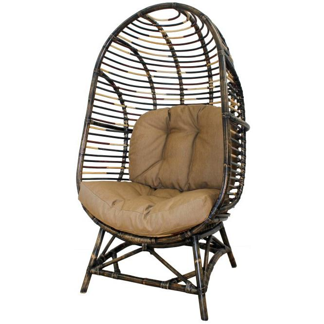 Elettra Kd Rattan Cocoon Chair Multi Color Boulevard Urban Living