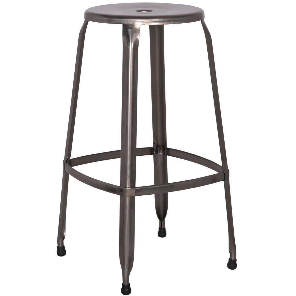Pleasant Aria Metal Backless Bar Stool Gunmetal Creativecarmelina Interior Chair Design Creativecarmelinacom
