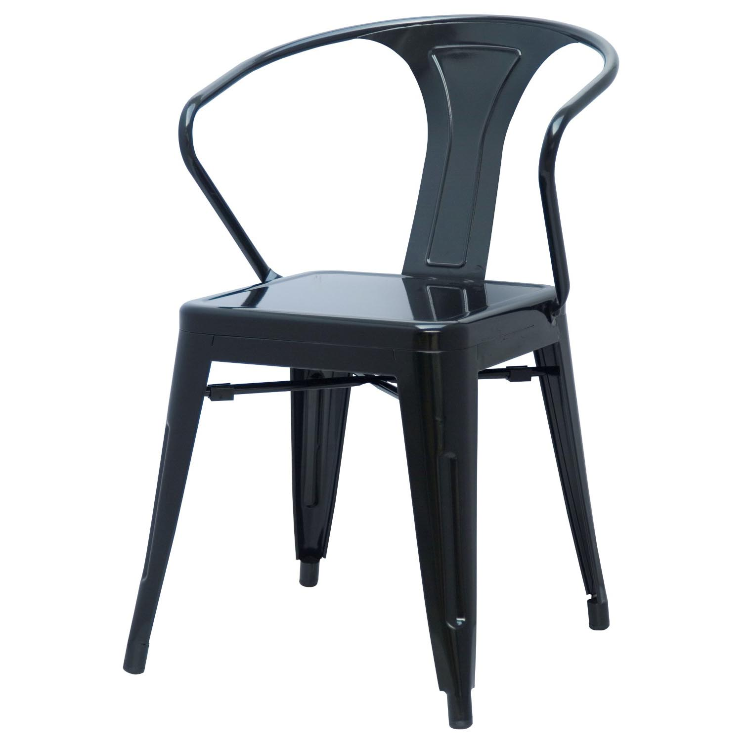 907_1152_l  sc 1 st  Boulevard Urban Living & Metropolis Metal Arm Chair Black - Boulevard Urban Living