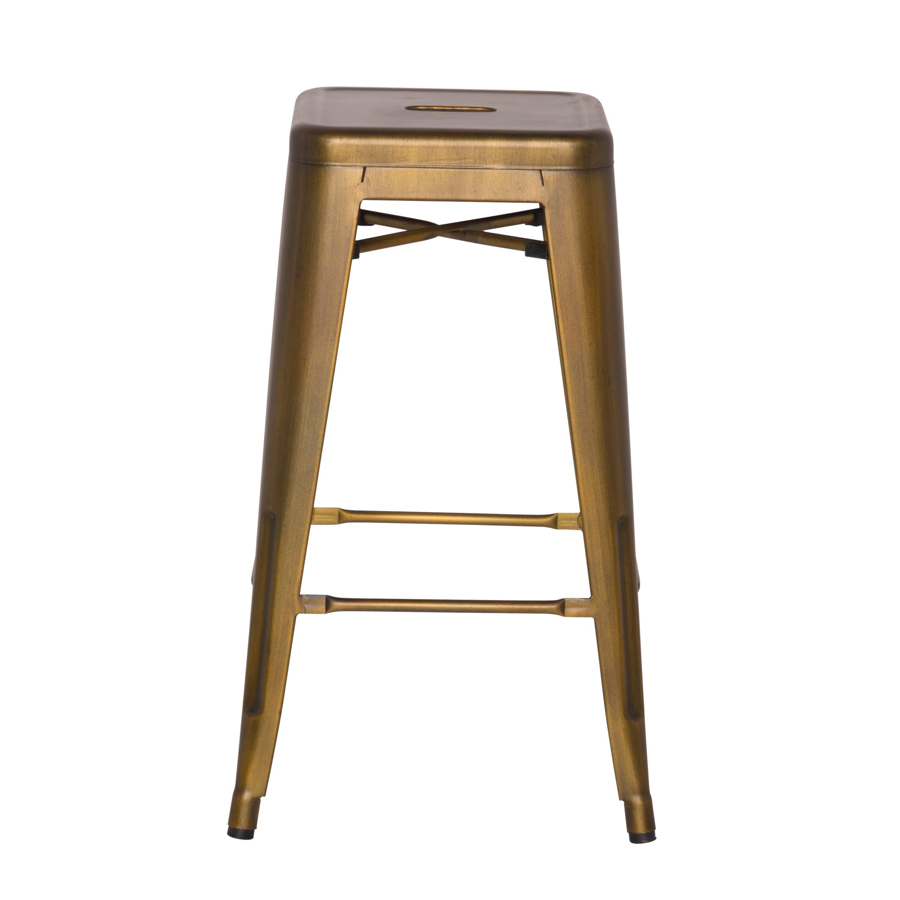 Awe Inspiring Metropolis Metal Backless Bar Stool Brushed Copper Creativecarmelina Interior Chair Design Creativecarmelinacom