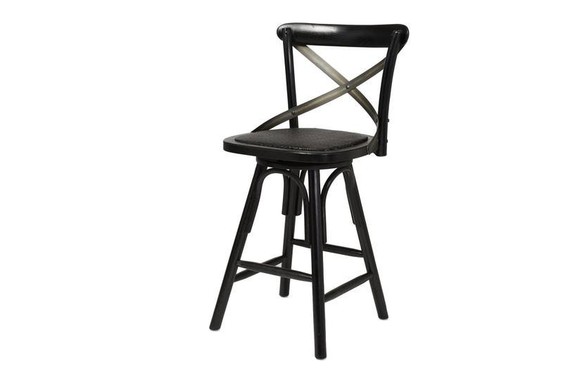 Admirable Crossback Counter Stool Black Spiritservingveterans Wood Chair Design Ideas Spiritservingveteransorg