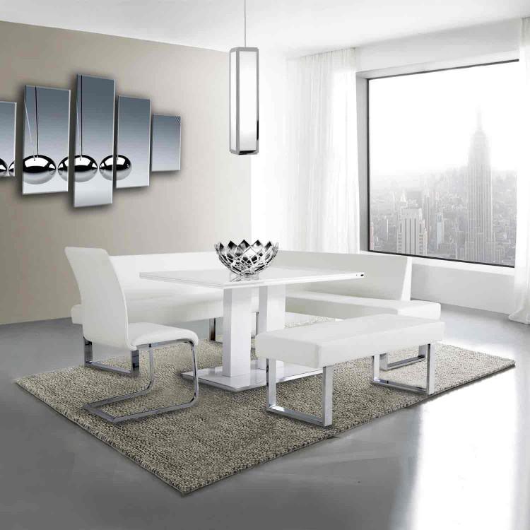 Terrific Amanda White Bench Boulevard Urban Living Inzonedesignstudio Interior Chair Design Inzonedesignstudiocom