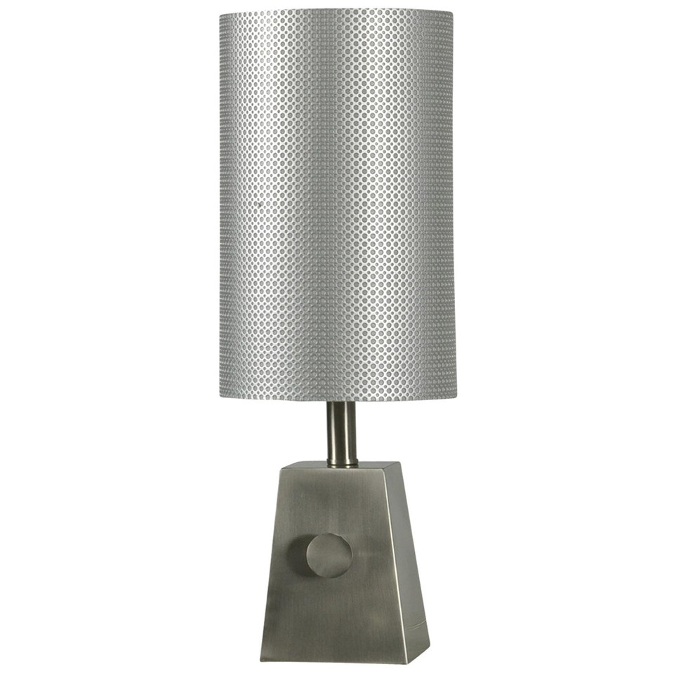 Brush steel mini table lamp and tall steel shade boulevard urban brush steel mini table lamp and tall steel shade aloadofball Image collections