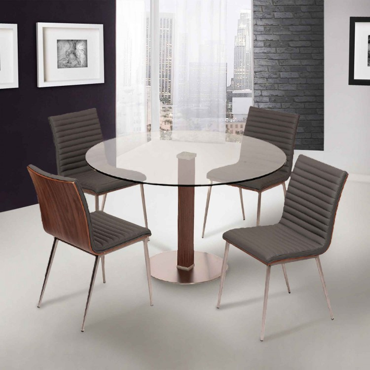 Cafe Dining Set Collection_Gray Pu_Lifestyle_little 750×750