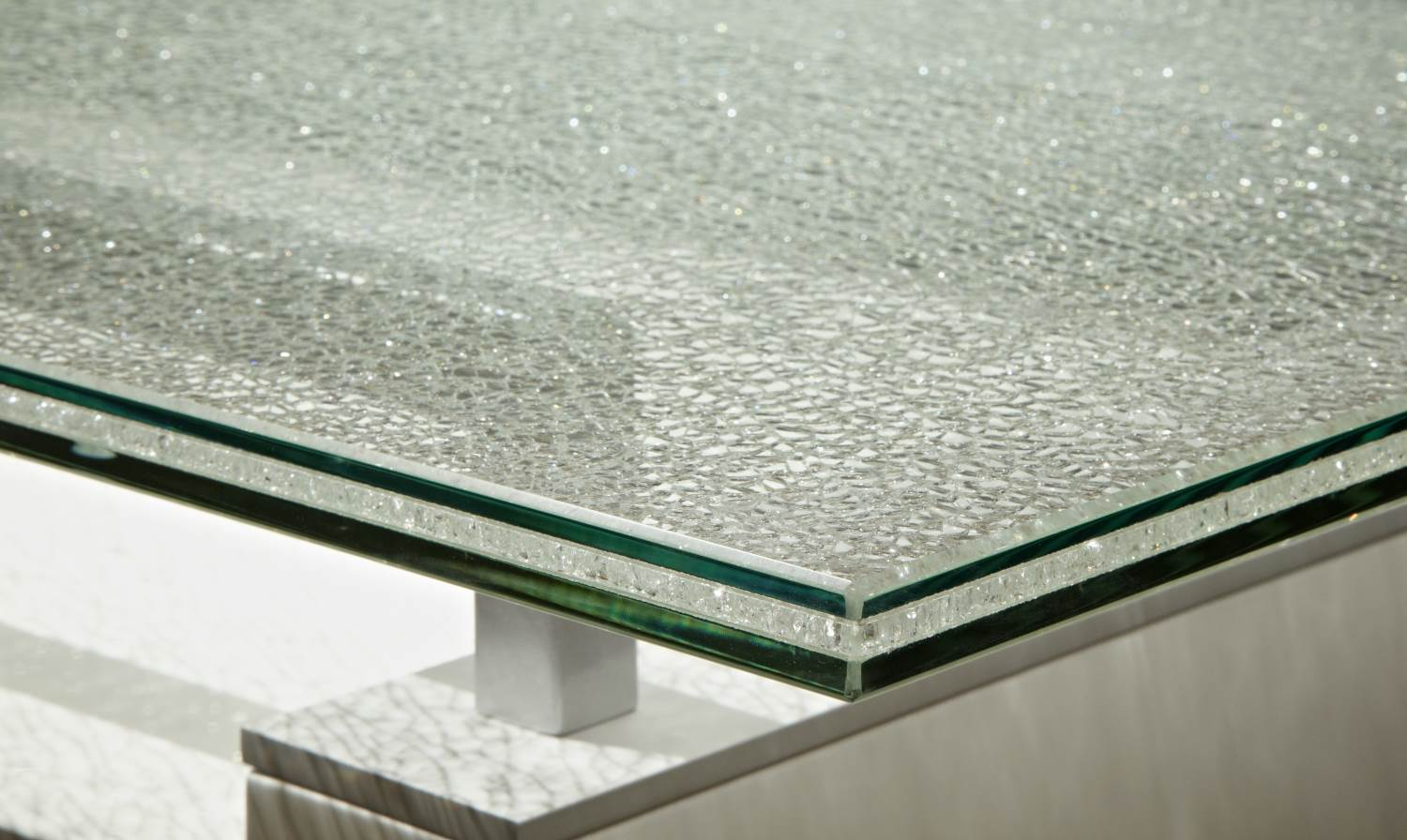 Crackled Square Dining Table Top Boulevard Urban Living - Restaurant glass table tops