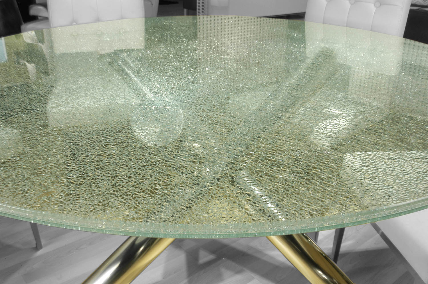 Crackled 60 Round Dining Table Top Boulevard Urban Living