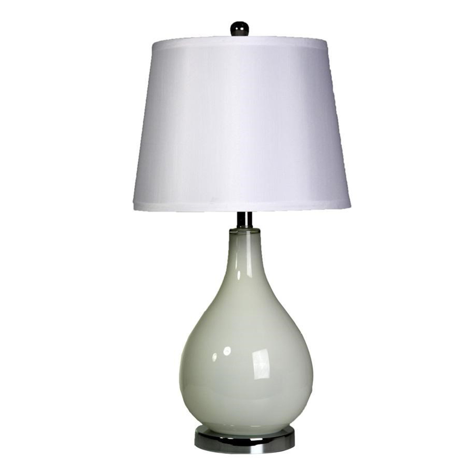 High gloss off white glass table lamp boulevard urban living high gloss off white glass table lamp with aloadofball Image collections