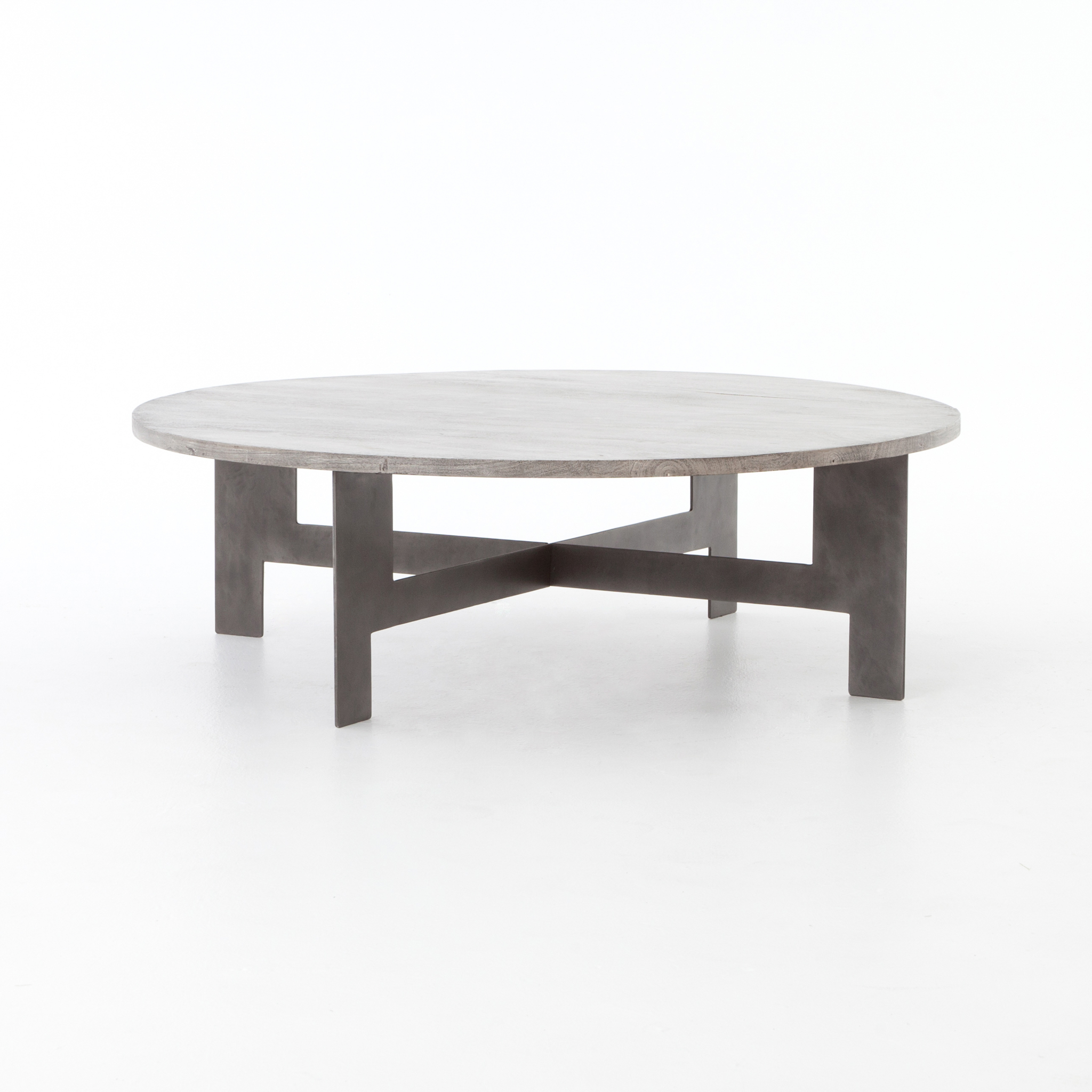 - Round Coffee Table With Iron - Boulevard Urban Living