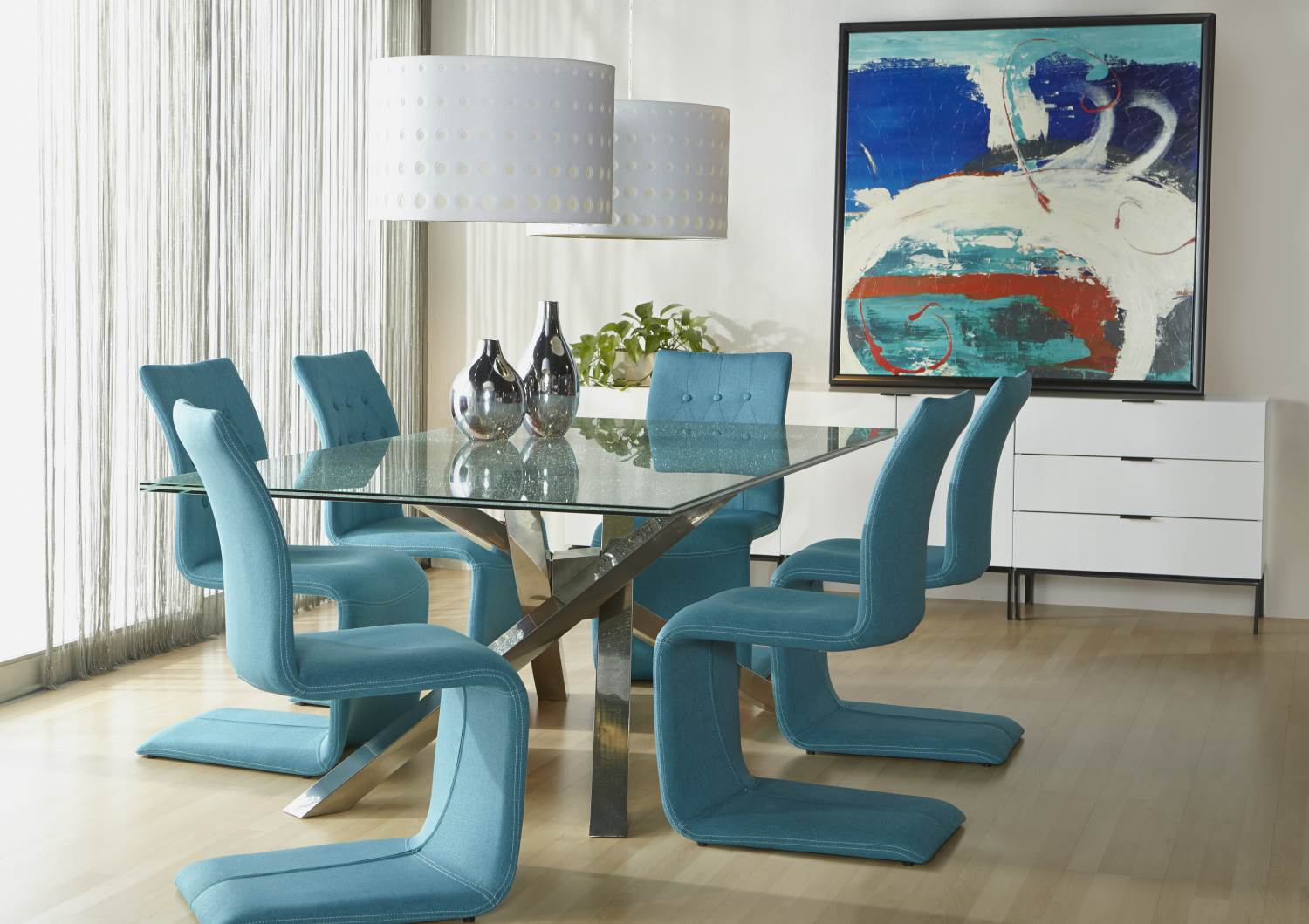 Illusione Rectangle Dining Table Base - Boulevard Urban Living