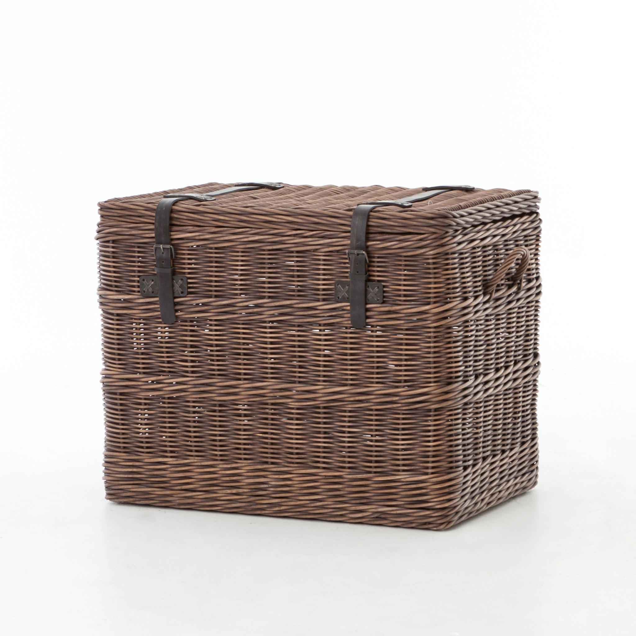 Wicker Trunk End Table Boulevard Urban Living