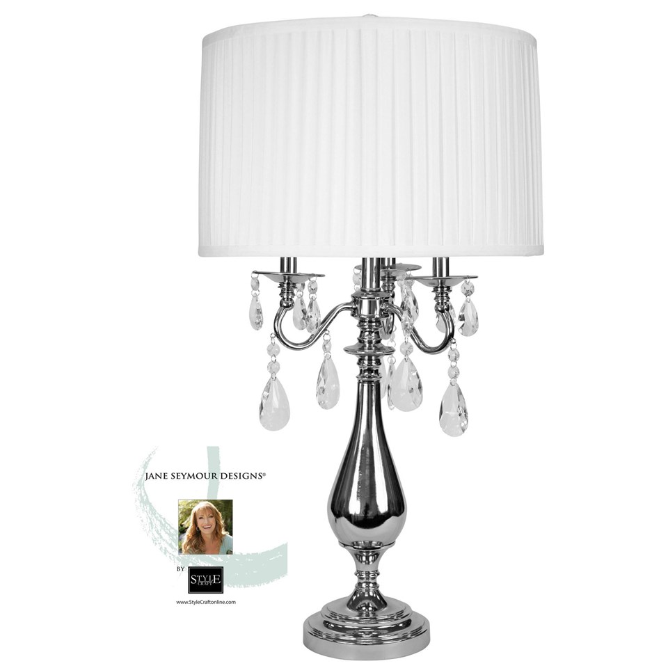 Jane Seymour U2013 Bring Classic Elegance Into Your Home With This Shiny Steel Table  Lamp With