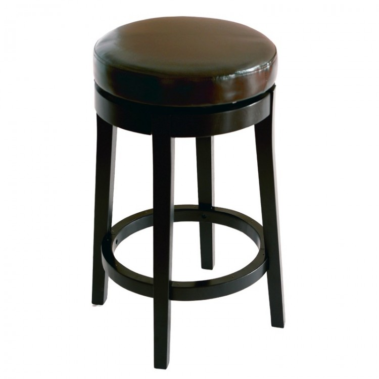 Mbs 450 30 Backless Swivel Barstool In Brown Bonded Leather
