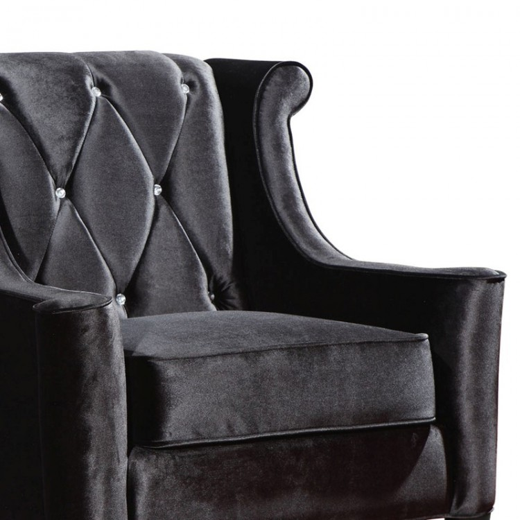 Fine Barrister Chair In Black Velvet With Crystal Buttons Creativecarmelina Interior Chair Design Creativecarmelinacom