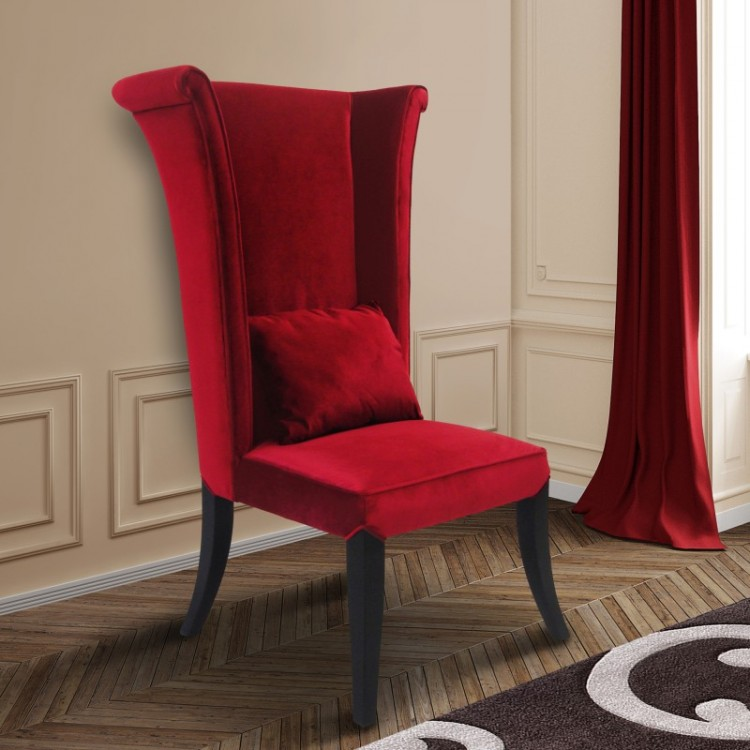 LC847SIRE_LS-750×750 & Mad Hatter Dining Chair In Red Rich Velvet - Boulevard Urban Living
