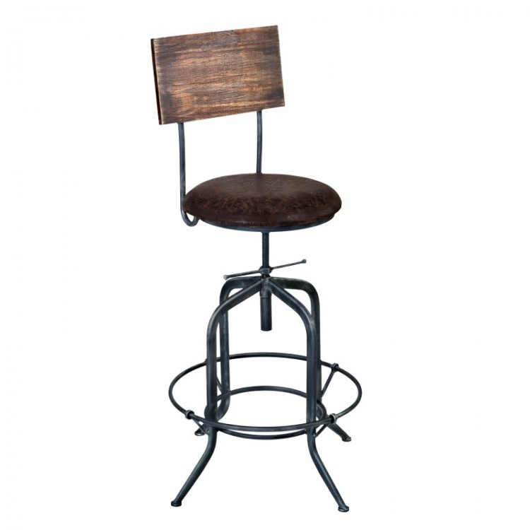 Phenomenal Damian Adjustable Barstool In Industrial Gray Finish With Squirreltailoven Fun Painted Chair Ideas Images Squirreltailovenorg