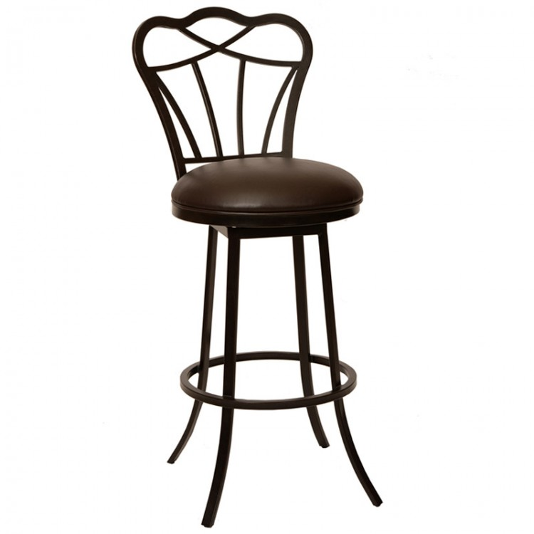 Magnificent Galvin 26 Transitional Barstool In Coffee And Auburn Bay Gmtry Best Dining Table And Chair Ideas Images Gmtryco