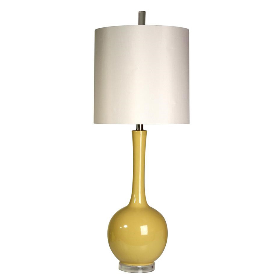 Mid century inside painted yellow glass table lamp boulevard urban mid century inside painted yellow glass table lamp aloadofball Image collections
