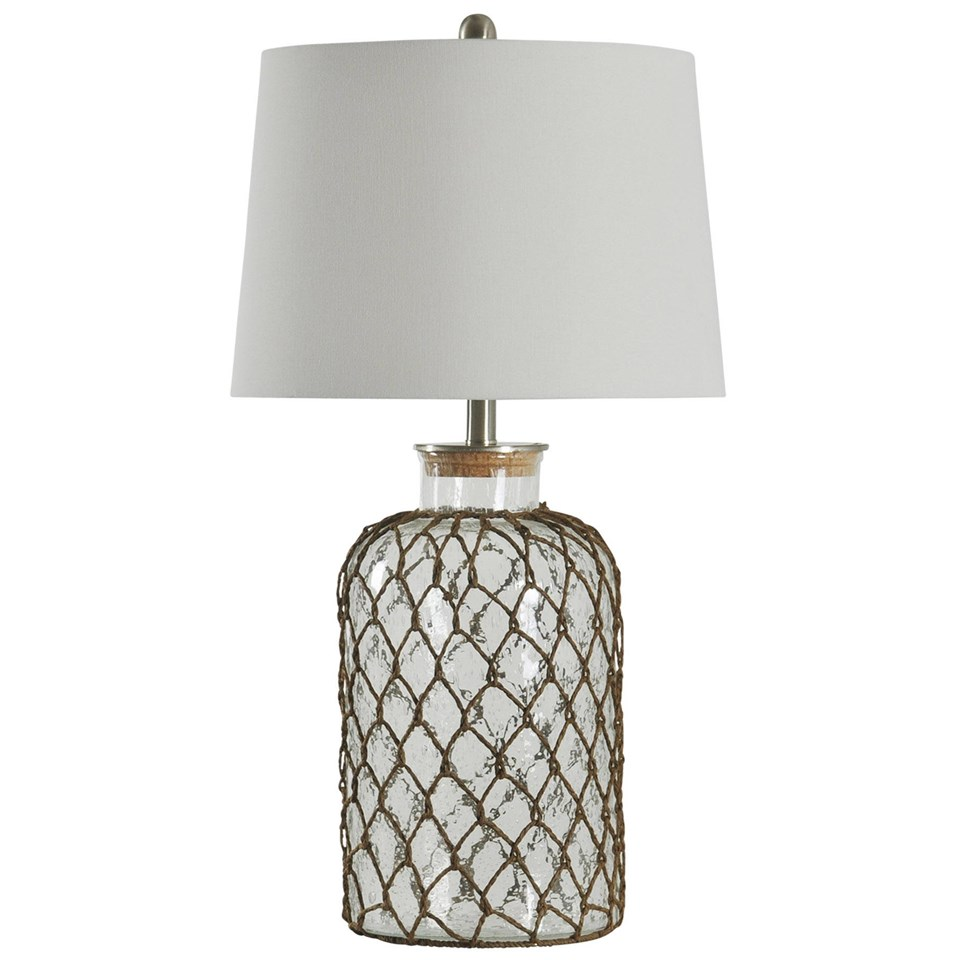 Seeded Glass And Netting Table Lamp Boulevard Urban Living