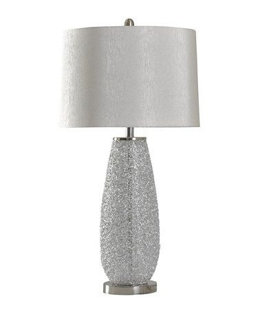 nickel lamps table brighton hammered pot products color lamp plus brushed silver