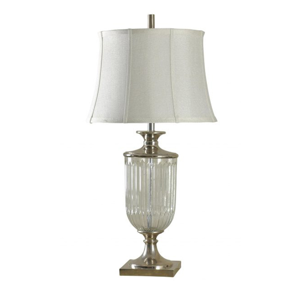 Traditional cut glass and polished nickel table lamp boulevard traditional cut glass and polished nickel table lamp aloadofball Images