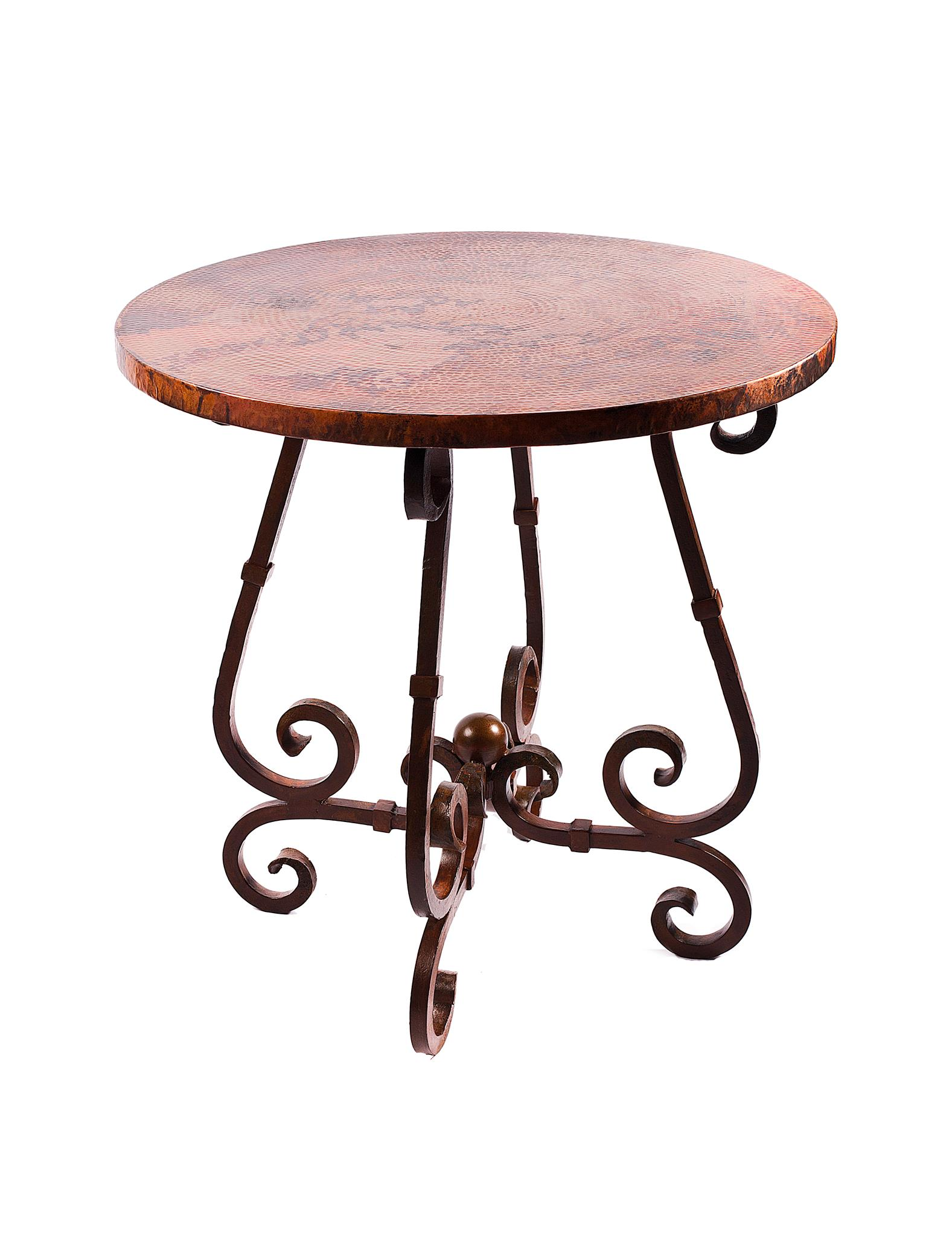 French bar table with 40 round hammered copper top boulevard french bar table with 40 round hammered copper top boulevard urban living watchthetrailerfo